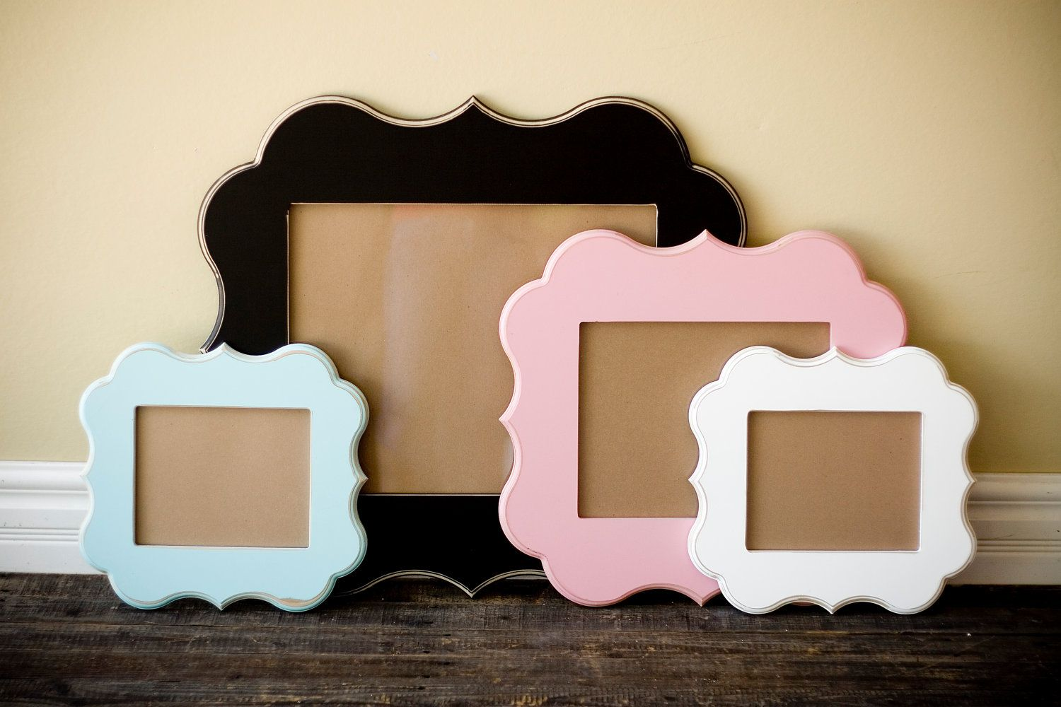 X whimsical and unique picture frame pick your style and color