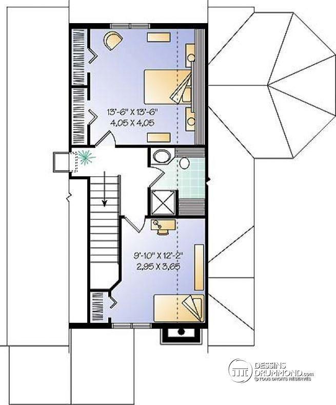 W6906 - Maison genre chalet 4-saisons, chambre maître au r-d-c