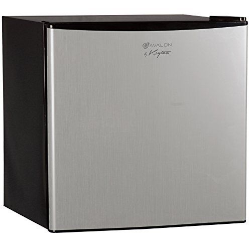 Avalon By Keyton Compact Single Door Refrigerator U0026 Freezer  Cubic Feet,  Compact, Adjustable Legs,   UL U0026 Energy Star Certified   Stainless Steel