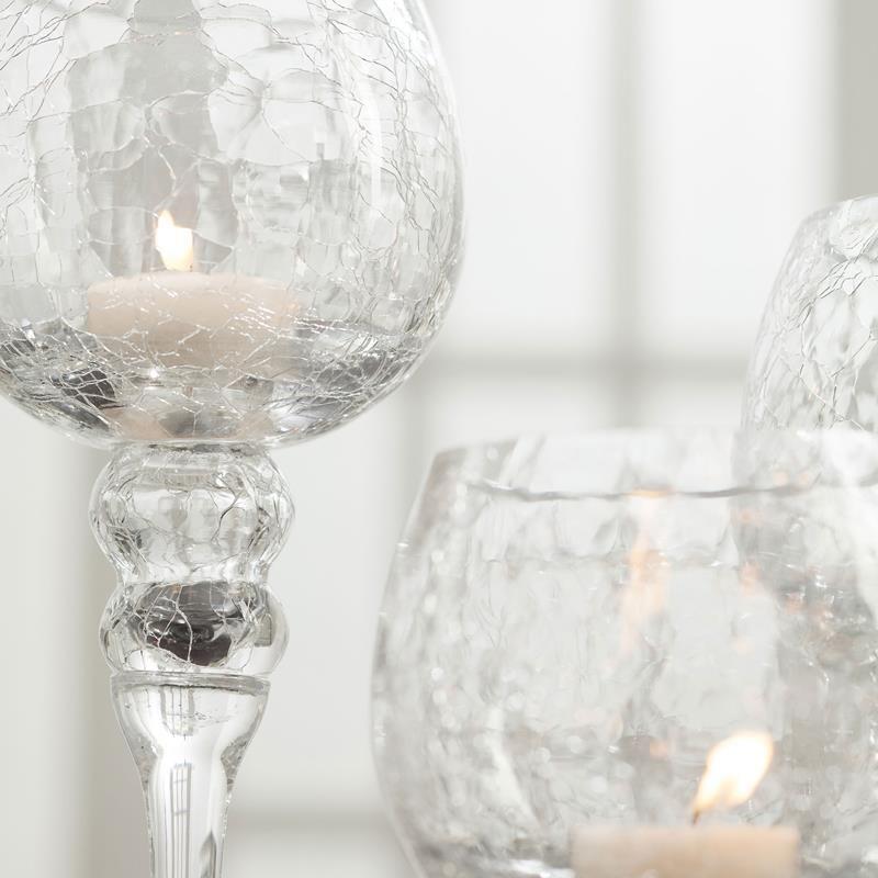 087ea54d7b KSP Illume Crackle Glass Stem Candleholder - Set of 3 (Clear ...