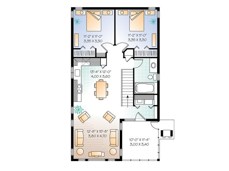 Garage Apartment Plans Carriage House Plan With Tandem Bay Design 027g 0003 At Thegarageplanshop Com House Plans Carriage House Plans Apartment Floor Plans
