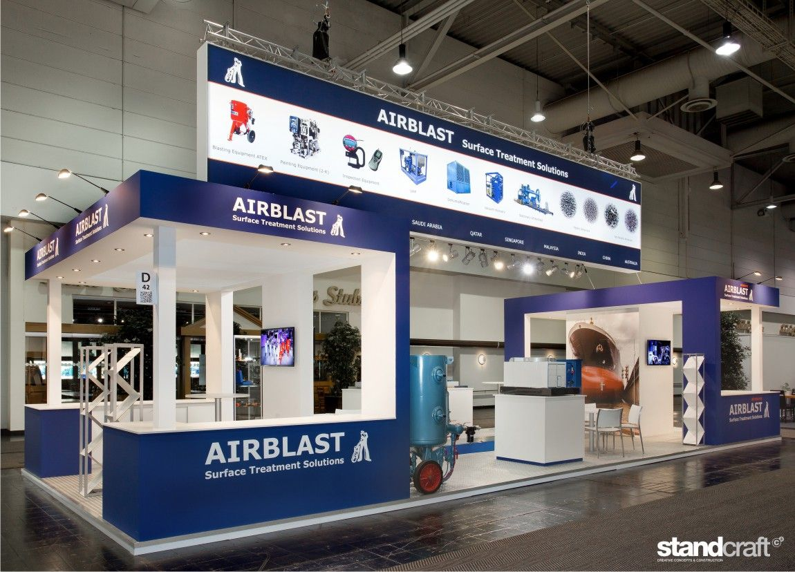 Standconstruction for Airblast at the Surface Hannover. Made by Standcraft!