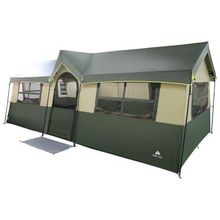 Ozark Trail Hazel Creek 12 Person Cabin Tent Walmart Com Cabin Tent Tent Wall Tent