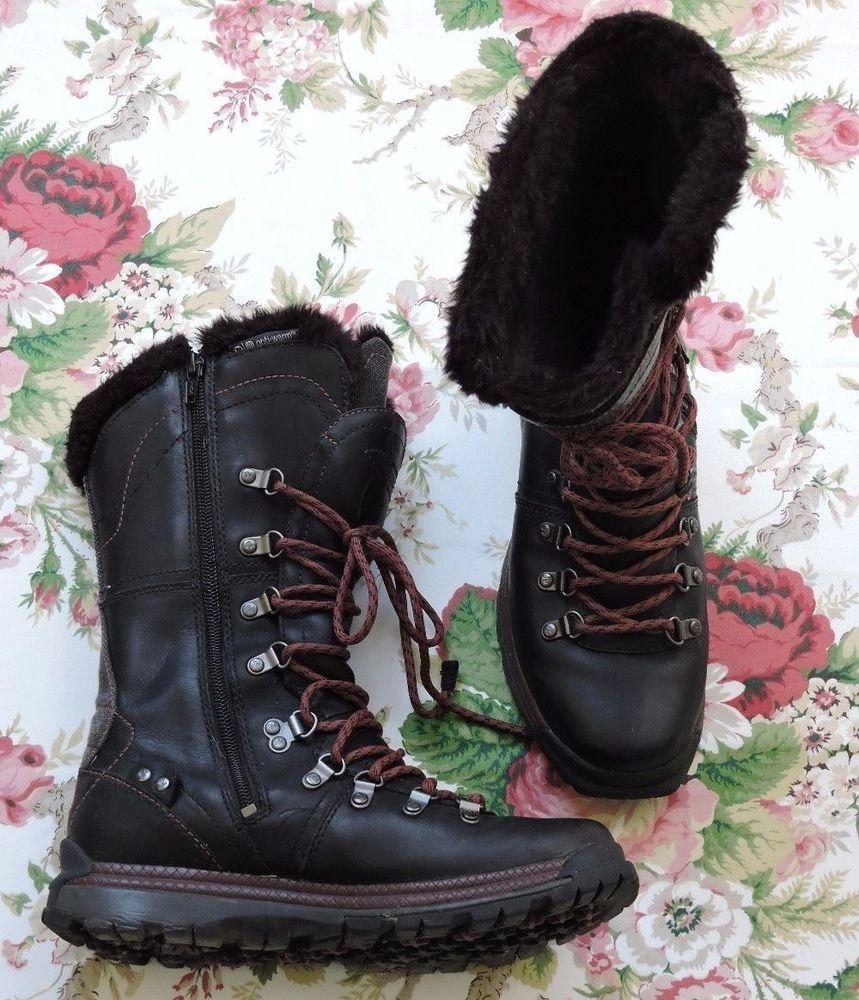5994d2ef Merrell Natalya Women Opti-Warm Waterproof Black Leather Snow Boots ...