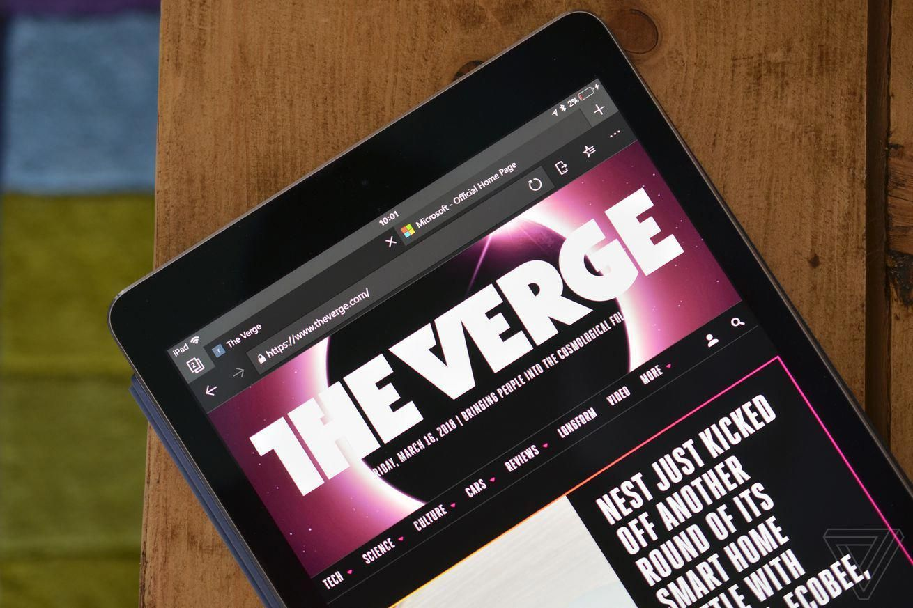 Microsofts Edge browser now available on iPad and Android