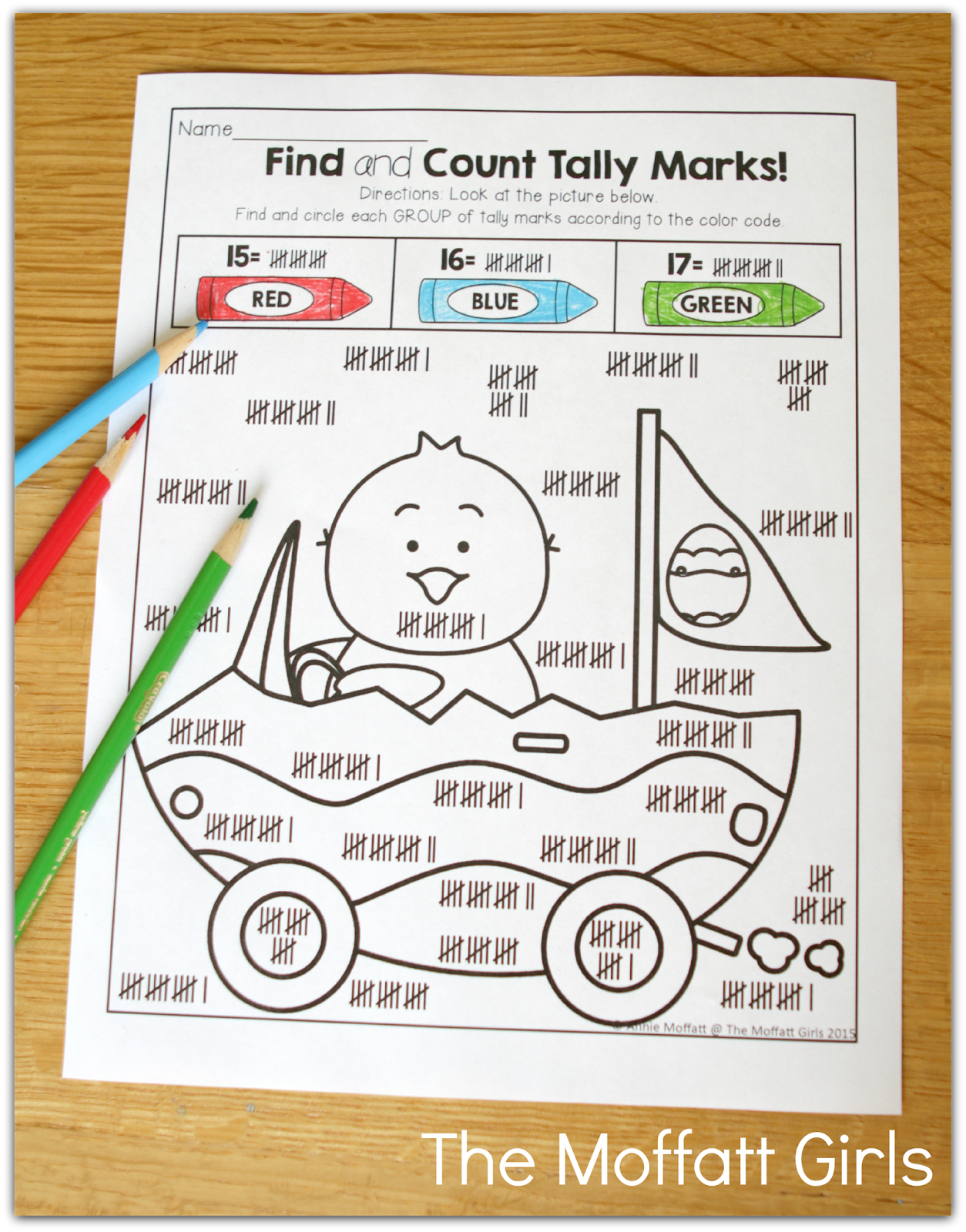 Color By Tally Marks What A Fun And Effective Way To Work