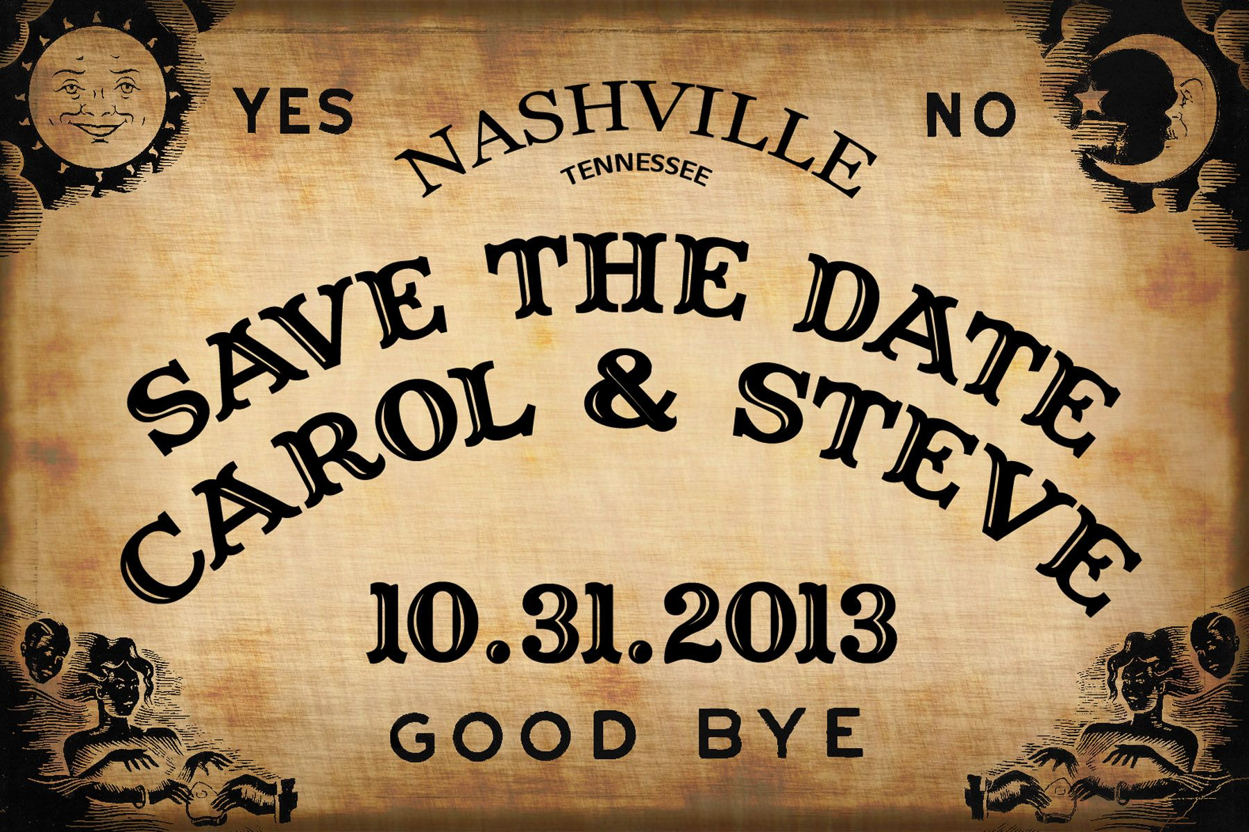 Save The Date Card For Halloween Wedding Deeply 3 Pinterest