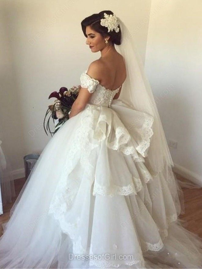 Backless Ball Gown Sweetheart Tulle Watteau Train Appliques Lace ...