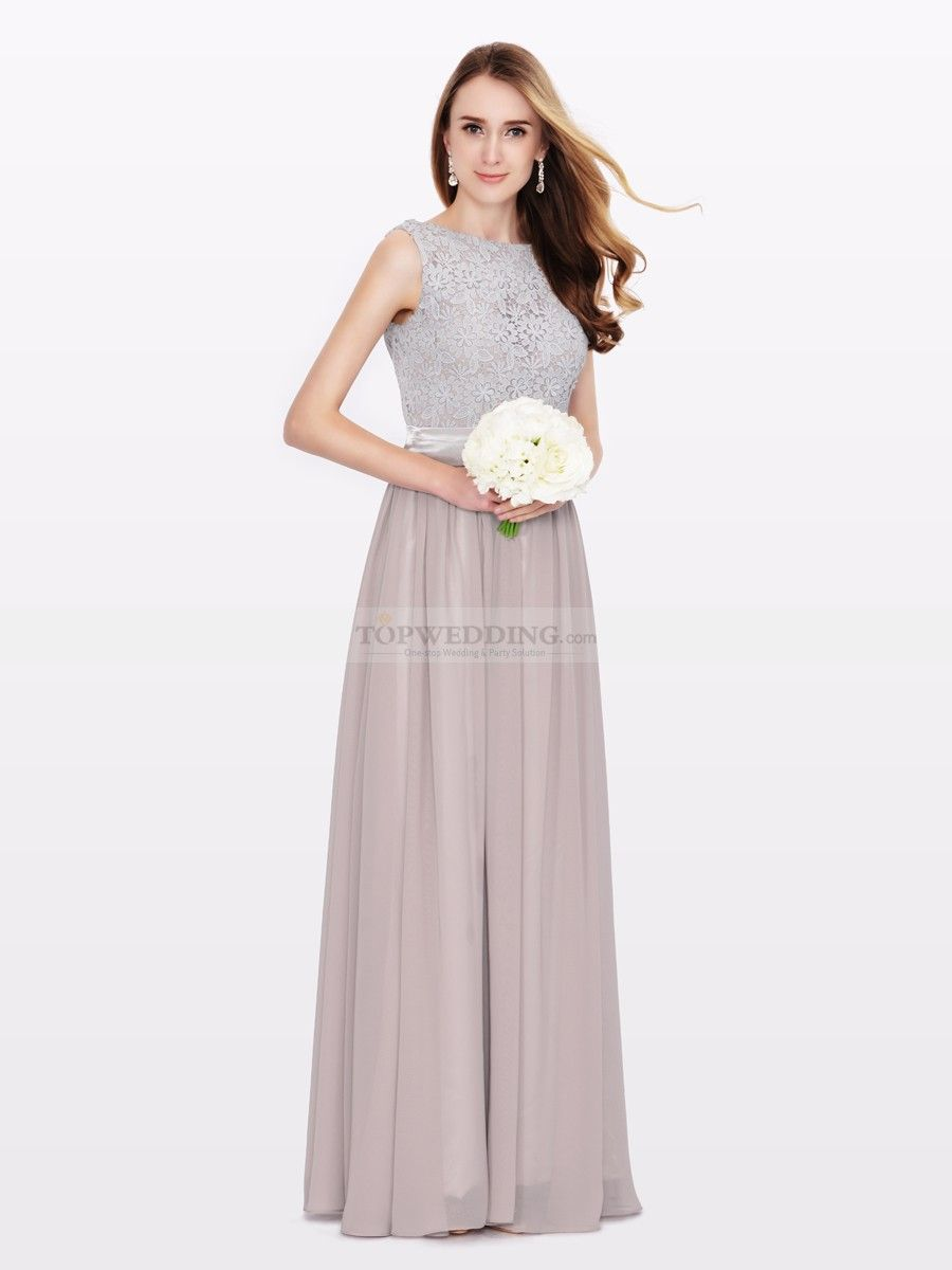 Two toned bridesmaid dress featured with lace bodice and chiffon two toned bridesmaid dress featured with lace bodice and chiffon skirt ombrellifo Image collections
