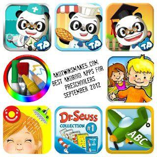 Best Android Apps for PreSchool Kids (September 2012