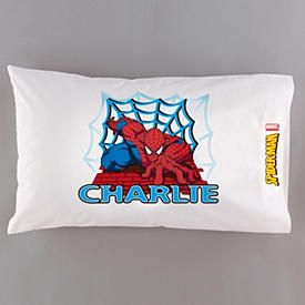 Personalized Spiderman Pillow.
