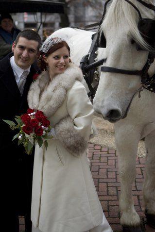 Bridal Coat Wedding Winter And Horse