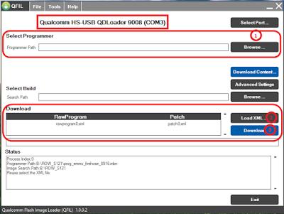 Qualcomm HS-USB QDLoader 9008 Driver+Flash Tool Free Download