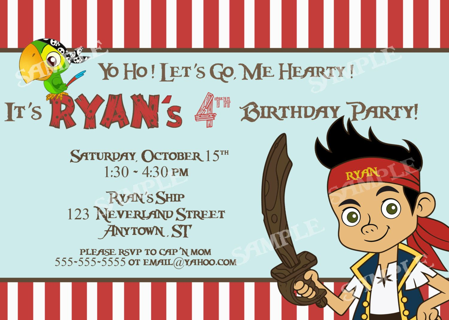 Free free template jake and the neverland pirates birthday free free template jake and the neverland pirates birthday invitation template filmwisefo