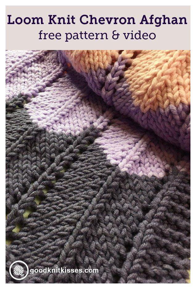 Loom Knit Ripple and Ridge Afghan #loom #knitting #blanket ...