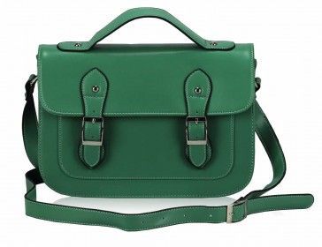 The Rich Green Colour Of The Design Separates The Satchel