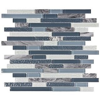 Somertile 11 75x11 875 Inch Reflections Piano Gulf Glass And Stone Mosaic Wall Tile 10 Tiles 9 7 Sqft Mosaic Wall Tiles Home Wall Tiles