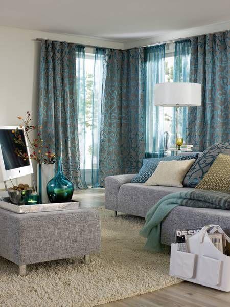 Attinger raumausstattung gardinen vorhangdekorationen wohnen gardinen vorh nge und raum - Raumausstattung wohnzimmer ...