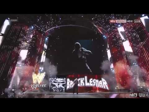 Brock Lesnar New Entrance with Pyro 2013 HD WWE RAW 4/15 ...