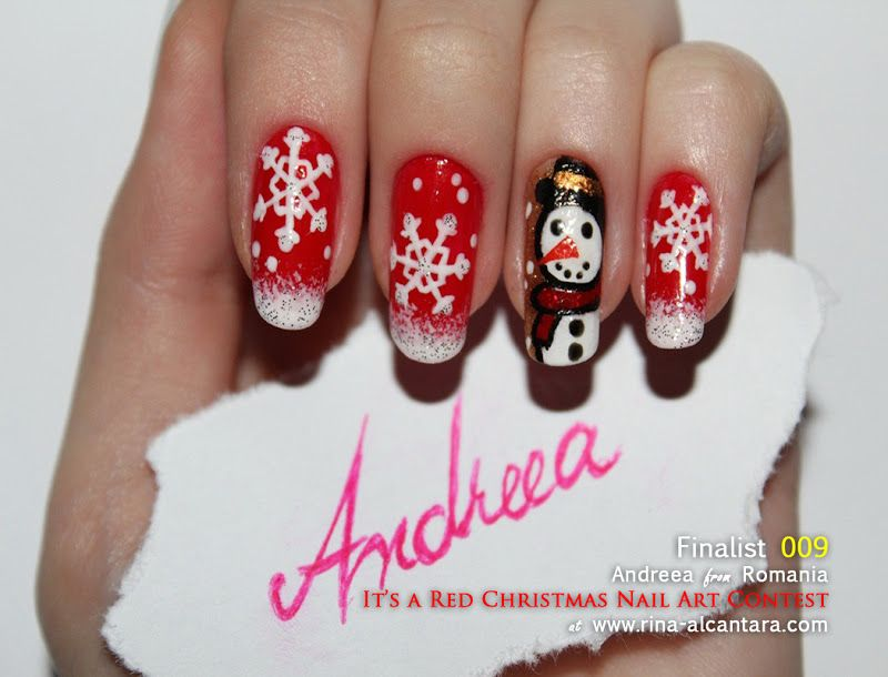It\u0027s a Red Christmas Nail Art Contest Entry check out www