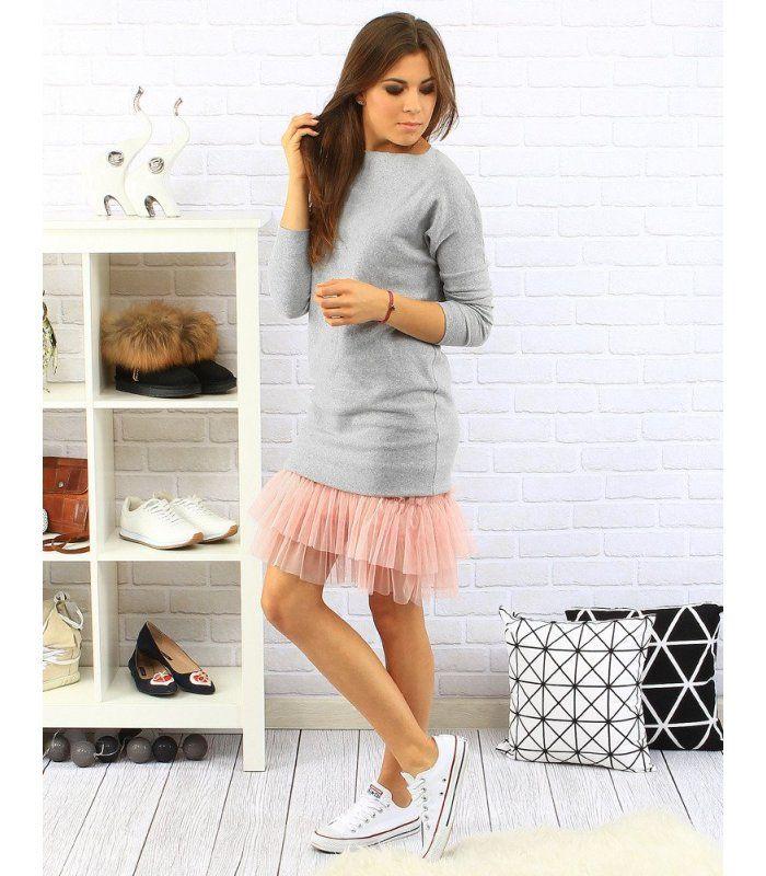 170d927ebede Šedo-ružové šaty Kaya