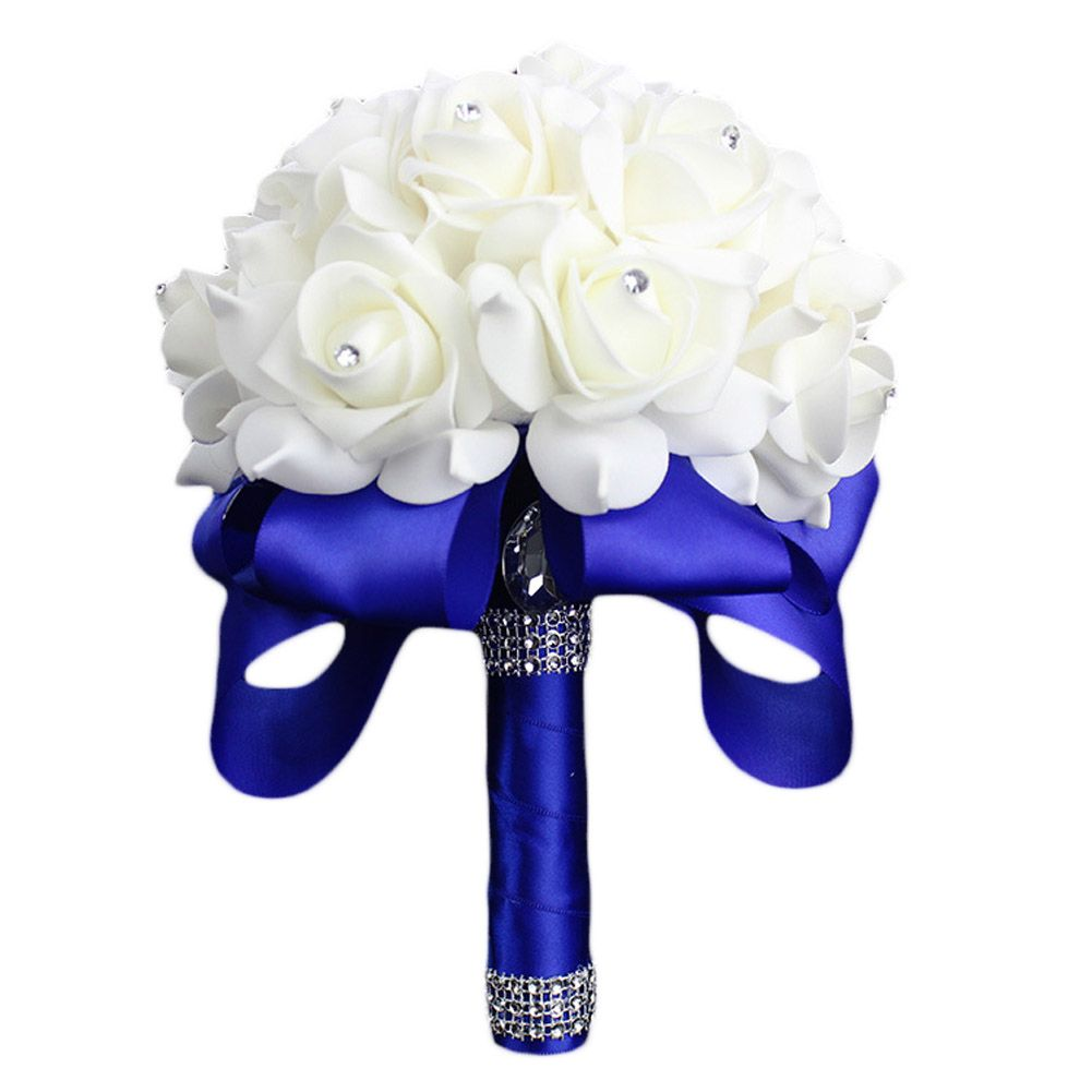 Cheap Flowers Bridal Bouquet Buy Quality Rose Artificial Directly