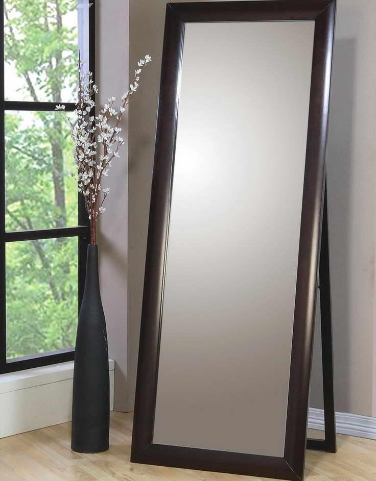 Home Decor Ikea Stand Up Mirror With Unique Decorative Vase