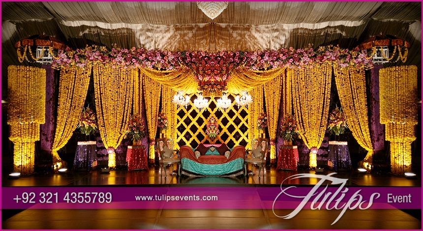 Tulips event best pakistani wedding stage decoration flowering tulips event best pakistani wedding stage decoration flowering for mehndi walima barat stages dcor services junglespirit Choice Image