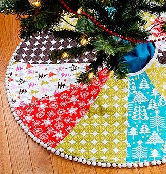 Make Your Own Tree Skirt Christmas Diy Christmas Sewing Christmas Decorations