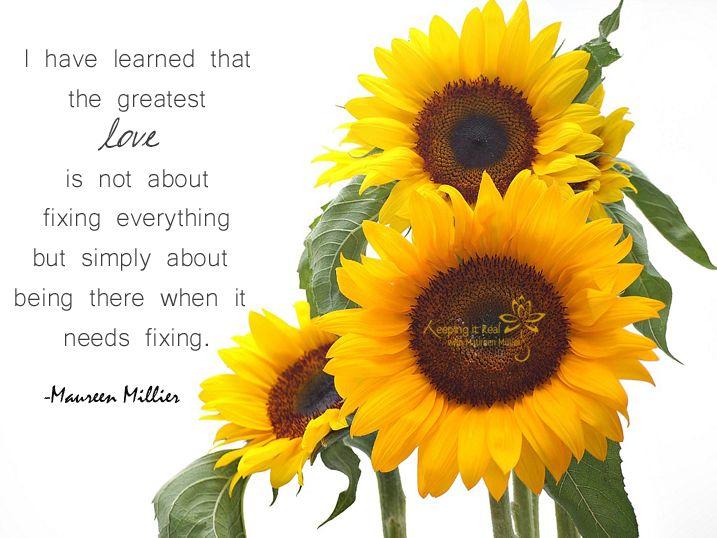 Keeping It Real With Maureen Millier Kiss And Make It Better Flower Essences Sunflower Flower Sunflower