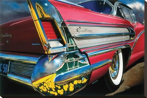 'Buick Century '58 in Holland' Stretched Canvas Print - Graham Reynold | Art.com