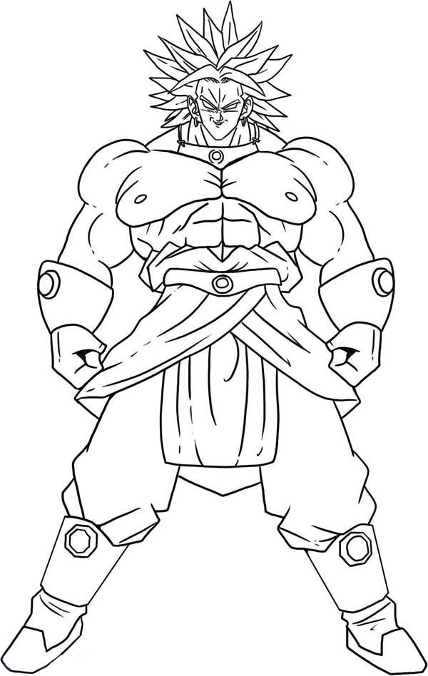 Broly Super Saiyan Form In Dragon Ball Z Coloring Page Kids Play Color Dragon Ball Super Art Dragon Ball Image Dragon Ball Art
