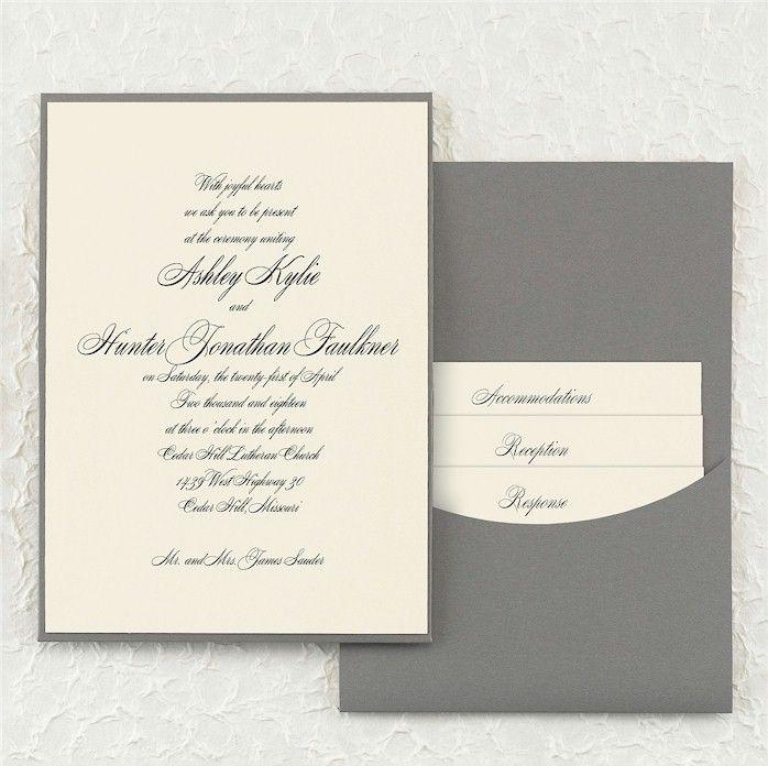 Joyful Details Pocket Wedding Invitation Joyful Details