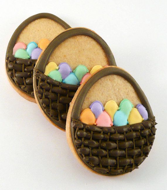 Easter Basket Cookies by Katie Duran | Decorated easter ...
