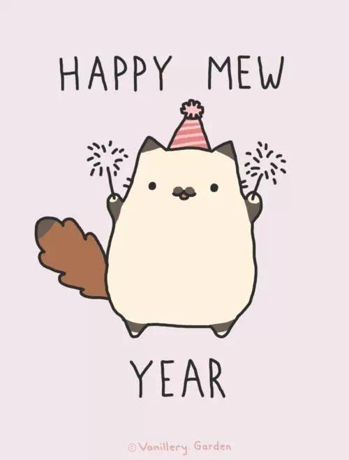 happy mew year kawaii pinterest cats happy and happy new