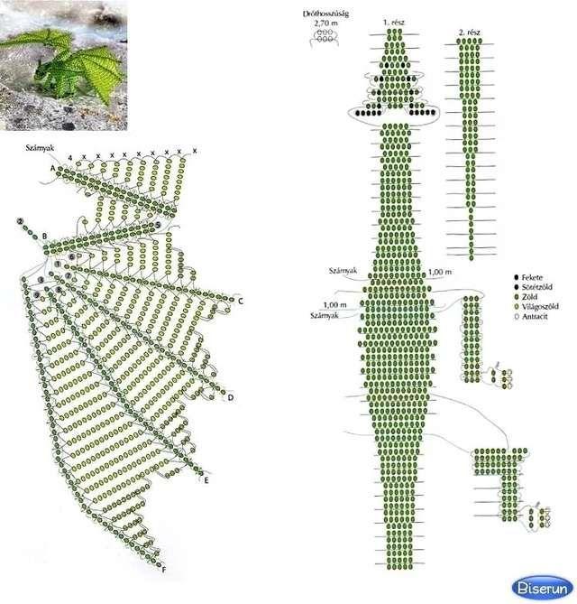 схема дракона из бисера: 20 тыс изображений найдено в ...
