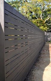 Contemporary Horizontal Wood Fence