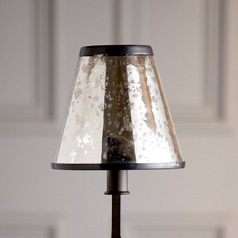 Mercury Glass Chandelier Shade I Ballarddesigns