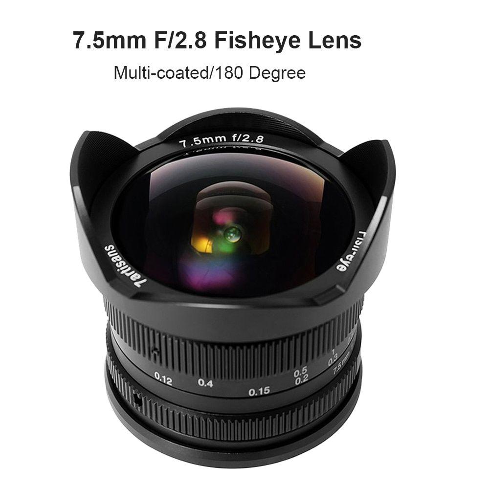 7artisans 7.5mm F/2.8 Fisheye Lens 180 Degree Angle for