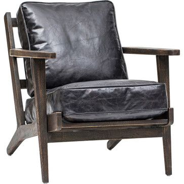 Brooks Lounge Chair, Ebony   Eclectic   Chairs   Houston   High Fashion Home