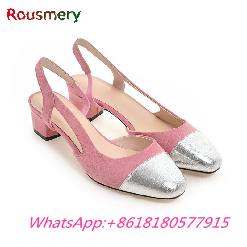 58.21$  Buy now - http://alinhp.shopchina.info/1/go.php?t=32803991803 - 2017 New Fashion Cute Woman Sandals Plus Size Elegant Ankle Strap Zapatos Mujer Tacon Mixed Colors Square Toe Sapato Feminino   #shopstyle