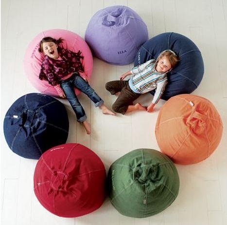 Kidsu0027 Bean Bags U0026 Floor Cushions: Kids Red Cotton Beanbag Chair In Soft  Seating