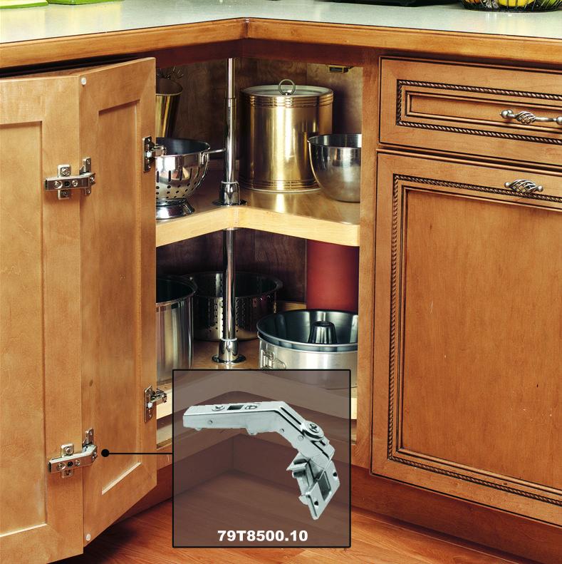The Blum 79T8500.10 CLIP Top Full Overlay Screw-On Bi-Fold Cabinet ...