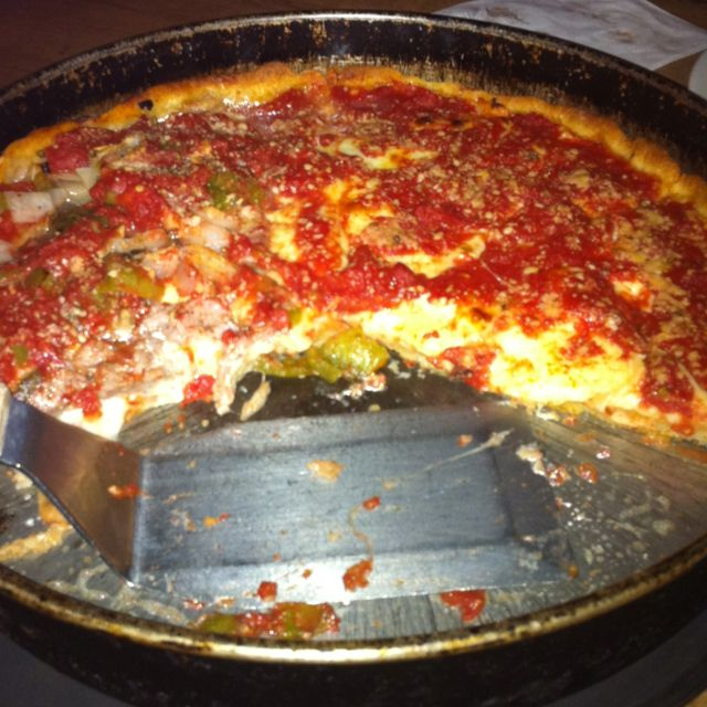 My first real Chicago deep dish pizza.