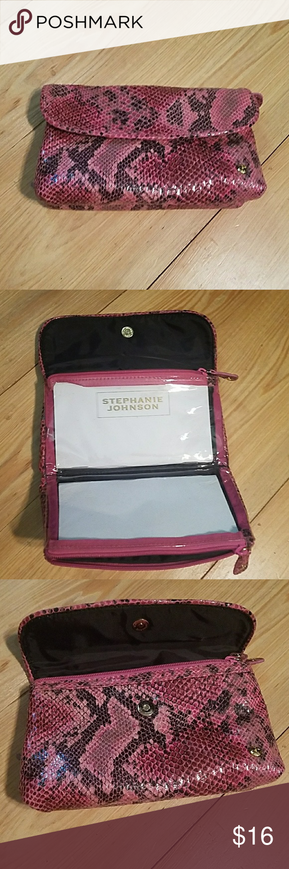 Stephanie Johnson Cosmetic Pouch Cosmetic bag in pink