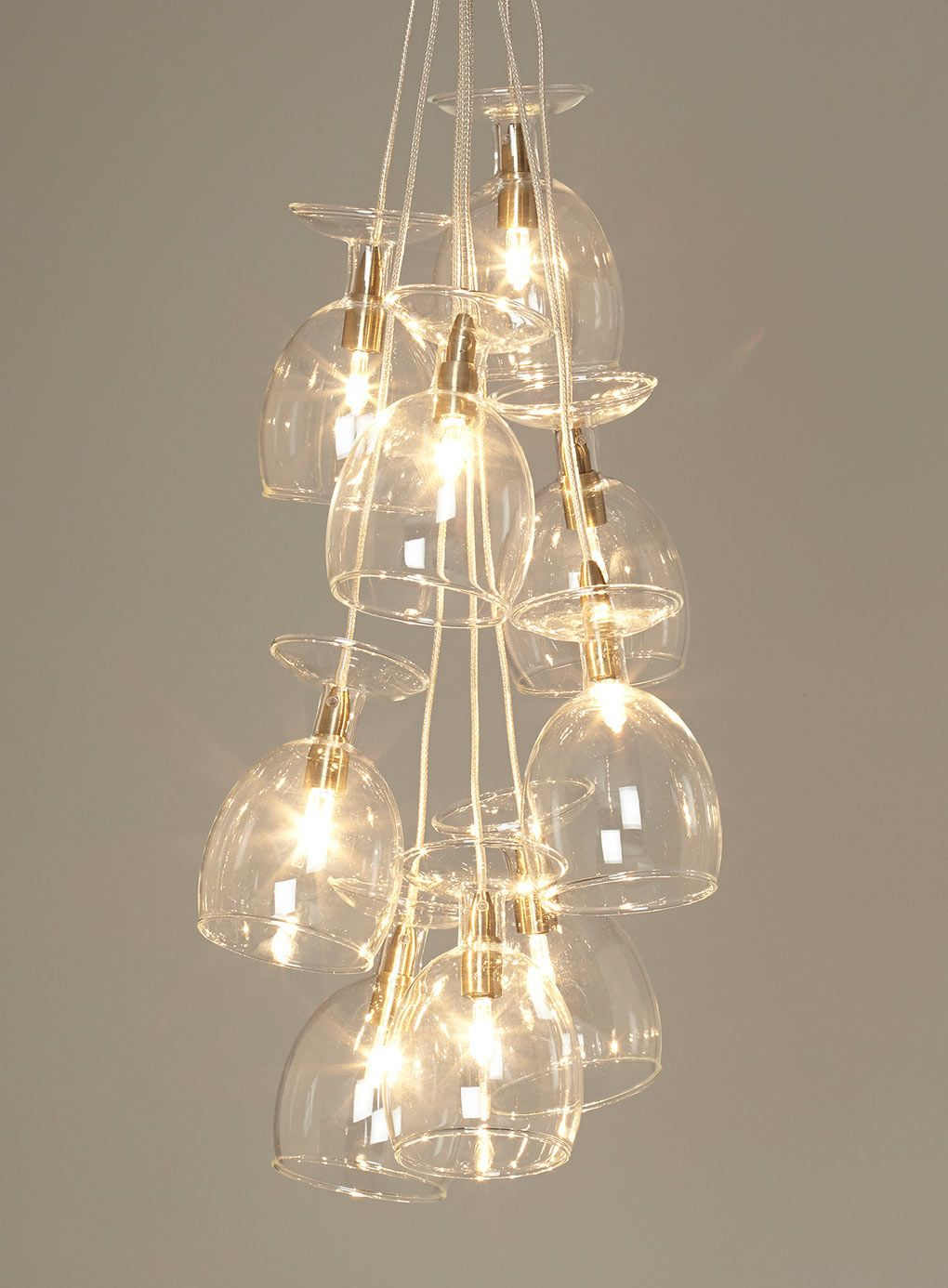 Wine glass chandelier! Chalice 9 light cluster ceiling light from BHS, ?85 Huisideeen ...