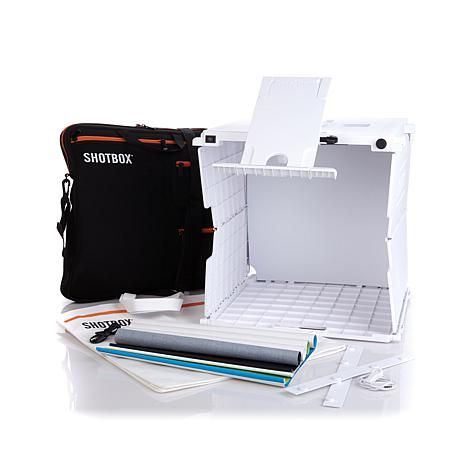 Shotbox Collapsible Photo Studio With Accessories 8174425 Hsn Photo Studio Shotbox Photo Lighting