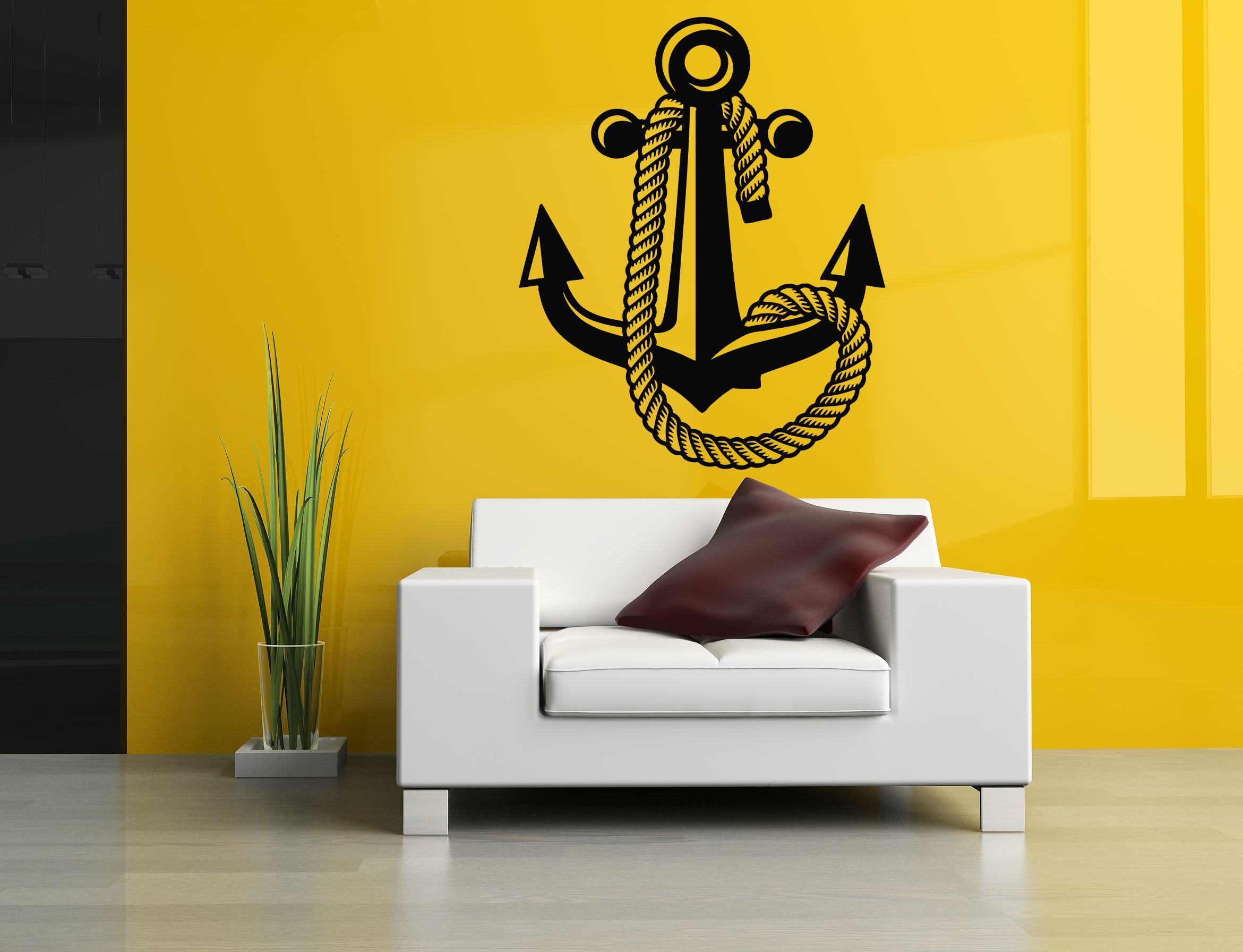 Wall Room Decor Art Vinyl Sticker Mural Decal Navy Naval Sea Ocean ...