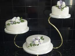 three tier wedding cake stand swan glass swan style wedding cake stand 3 tier 20949