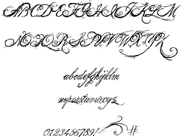 King And Queen Tattoo Font: The King & Queen Font Font
